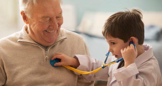 grandfather-getting-life-insurance-checkup