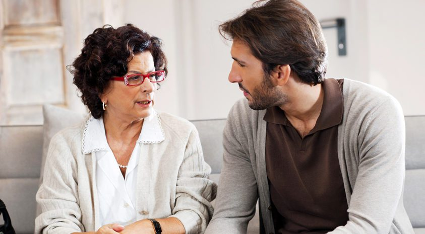 Retiree-communicates-retirement-care-needs
